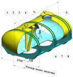 Емкости горизонтальные монолитные эллиптического сечения